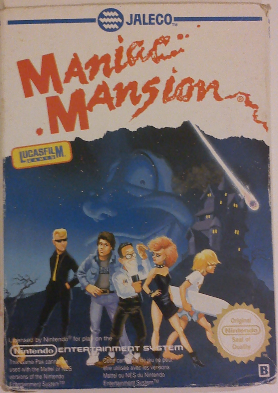 Maniac Mansion Nintendo Nes