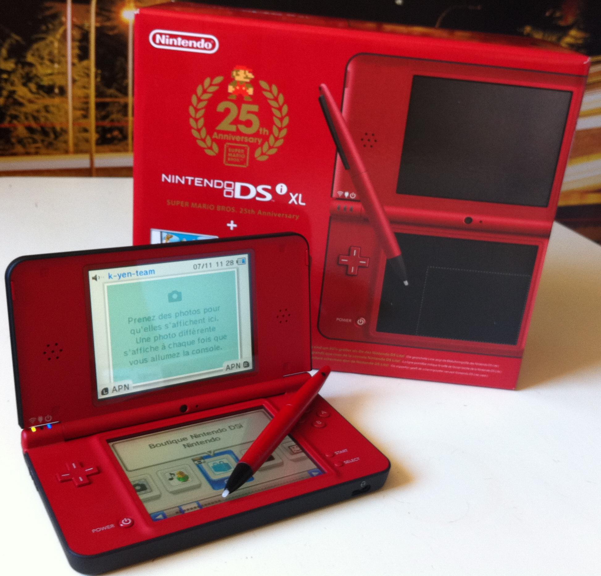 Dsi XL spécial Mario de Nintendo