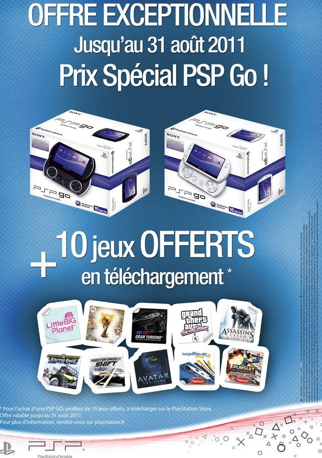 Psp Go offre Sony