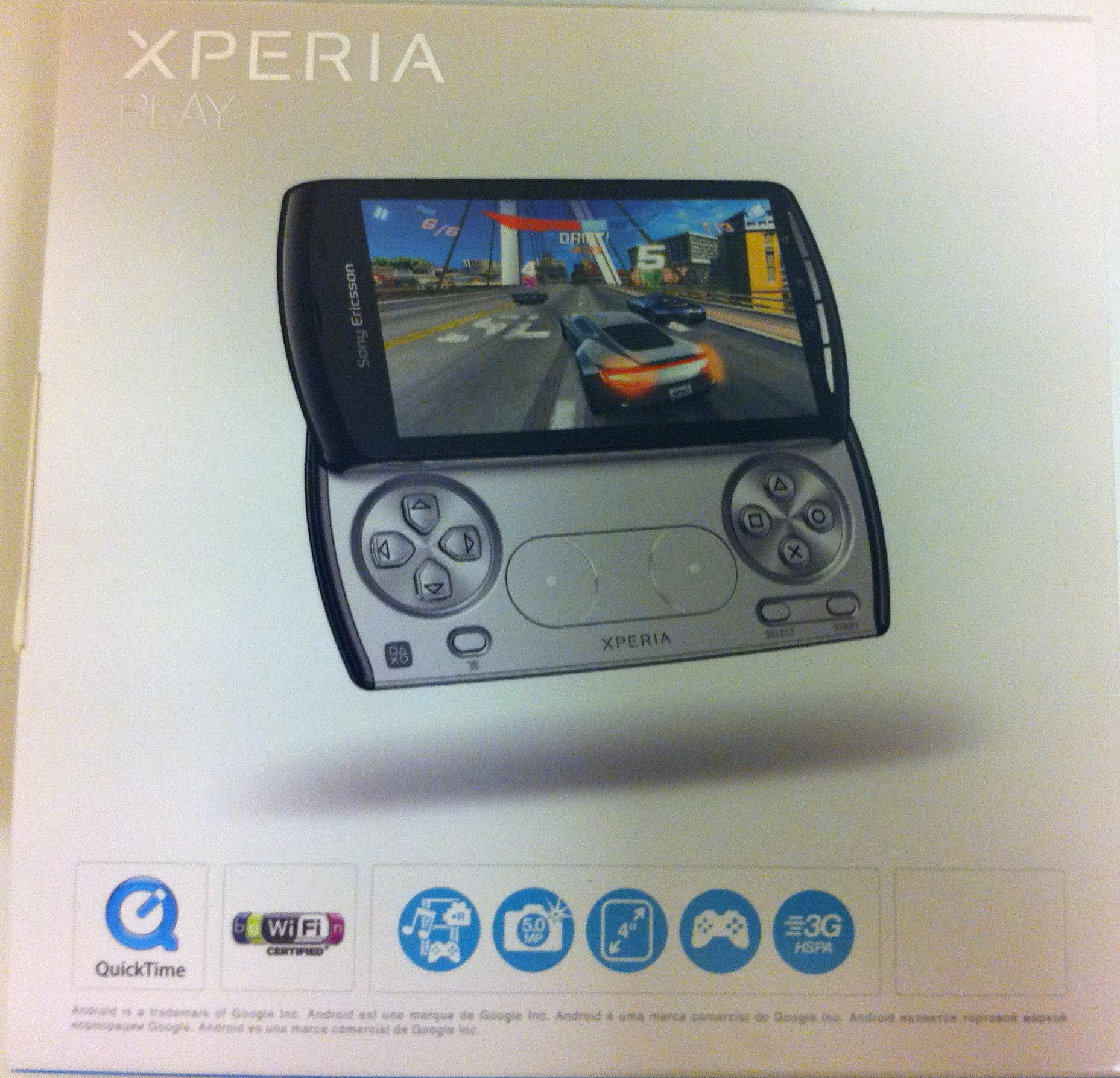 Boite Xperia Play Sony Ericsson