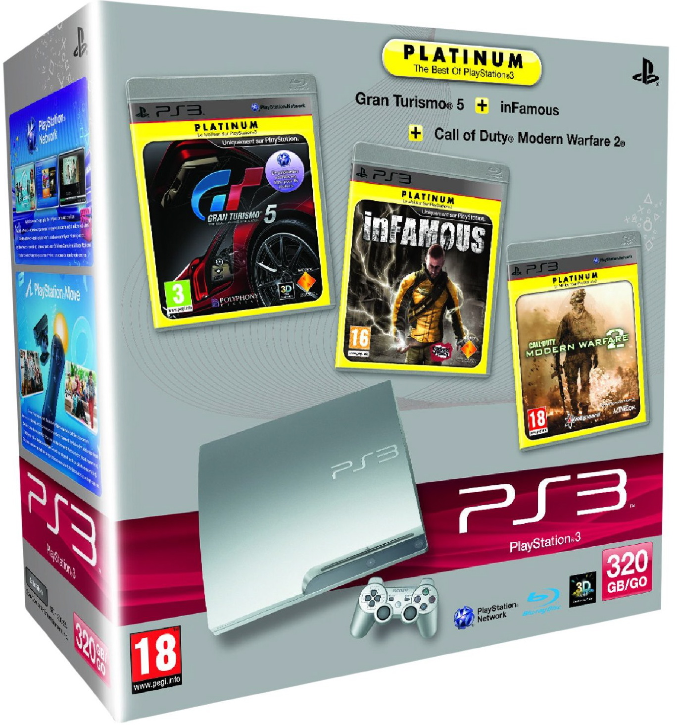 Pack Ps3 silver 3 jeux platinium