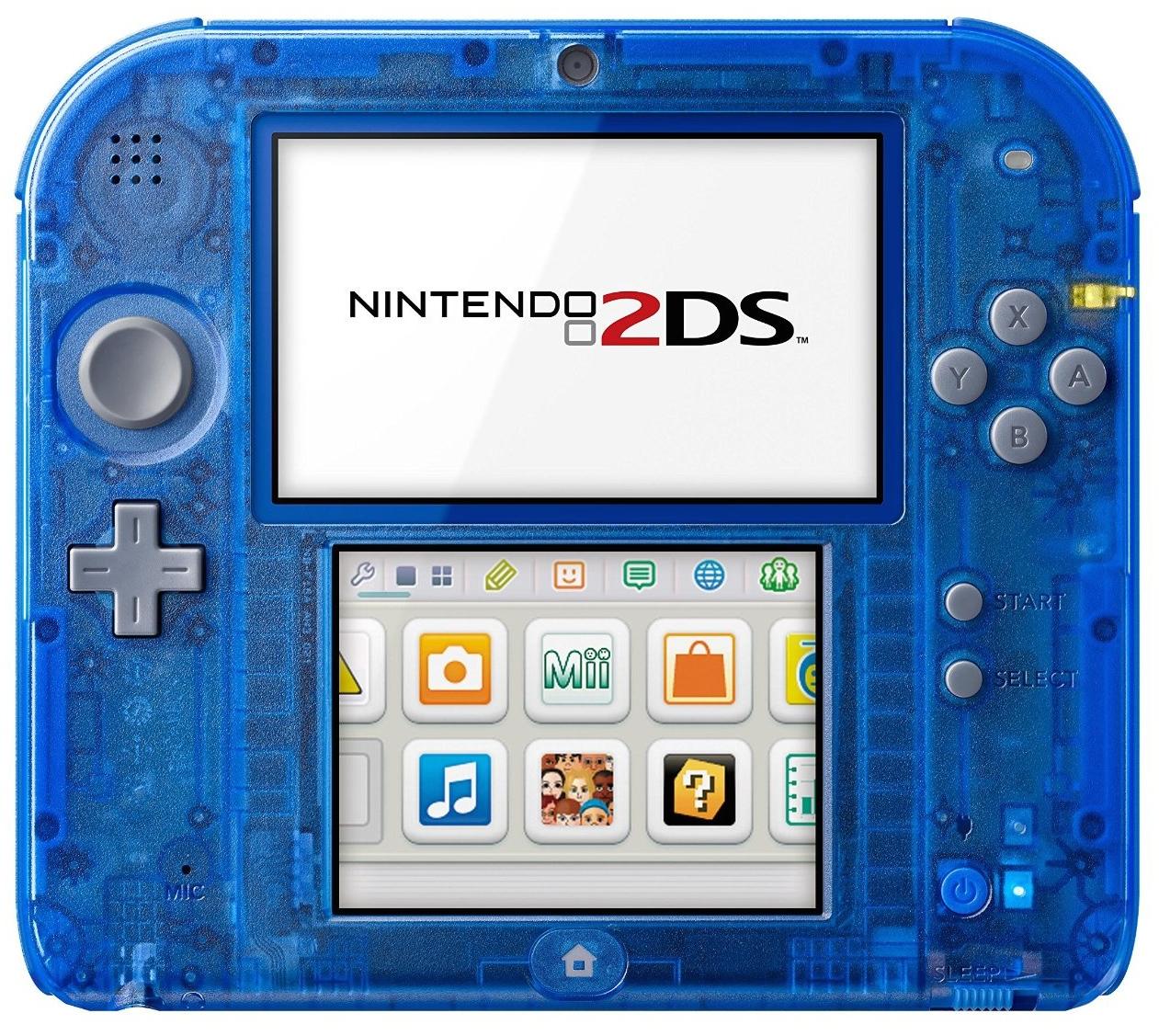 2ds bleu transparente